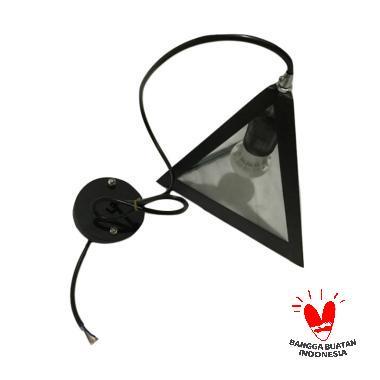 ATN LG 028 Segitiga Lampu Gantung Hias - Hitam