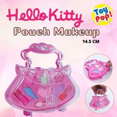 harga ToyPop! Mainan make up set anak kosmetik hello kitty bentuk tas ada lipstik mainan eye shadow dan kuas Blibli.com