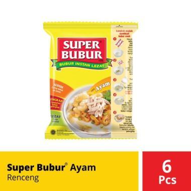 harga SUPER BUBUR Rasa Ayam Bubur Instan [Kemasan Renceng/ 6 Pcs @45 g] Blibli.com