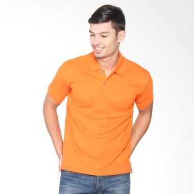 VM Kaos Polos Berkerah Polo Shirt Lengan pendek Pria - Oren