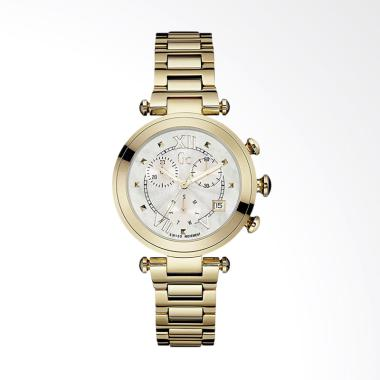 Guess Collection GC Y05008M1 Stainless Steel Jam Tangan Wanita - Gold White