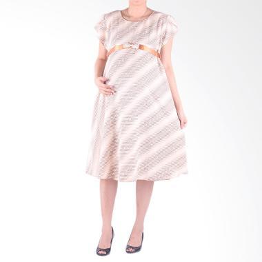 Hmill D1343 Dress Baju Hamil - Coklat