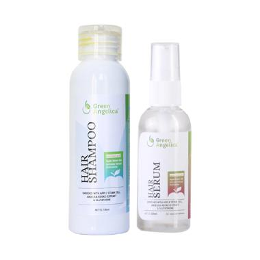 REVIEW Green Angelica shampo anti ketombe, obat penumbuh rambut botak, perawatan rambut rontok BEST SELLER, vitamin rambut kering 100% teruji BPOM Terlaris