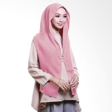 Cotton Bee Hoodie Rina Nose Jilbab Instant - Dusty Pink