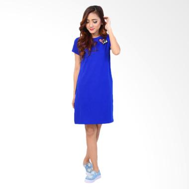 JCFashion Midi Dress Wanita - Blue