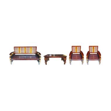 Sumber Rejeki MES-001 Set Kursi Sofa - Brown