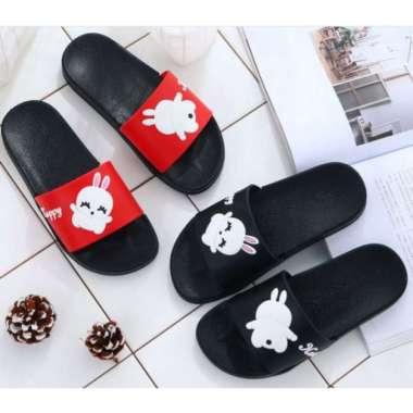 harga Unik Sandal PVC Motif Bunny  Home Slippers  Sandal Rumah  Selop Wanita - Hitam 3637 Murah Blibli.com