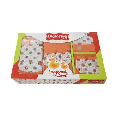 Dialogue Baby Giftset Owl Series 01 Set Pakaian Bayi - Orange
