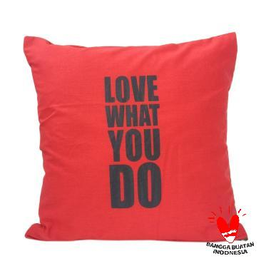 Stiletto In Style Love What You Do Cushion Cover - Red
