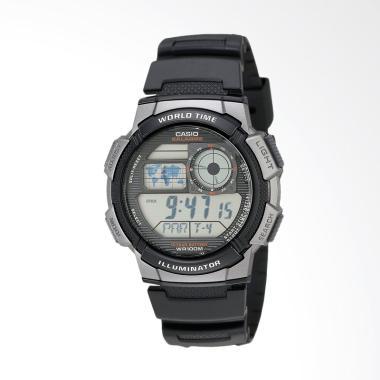 Casio Men's Resin Digital Sport Wat ...  Grey Black AE1000W-1BVCF