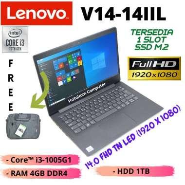 harga Lenovo V14-14IIL   i3-1005G1   RAM 4GB DDR4   HDD 1TB & 1 Slot SSD M.2   Intel HD Graphics   14.0 FHD TN LED   DOS grey Blibli.com