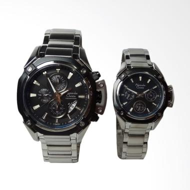 Alexandre Christie Jam Tangan Coupl ... ver Black Stainless Steel