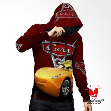Fika Tema Cars 3 D Full Print Subli ... rt 4 Jaket Hoodie Sweater