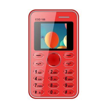 Brandcode B188 Cardphone Handphone - Merah [seukuran kartu ATM]