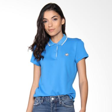 Giordano Solid Pique Polo Brilliant Atasan Wanita - Light Blue