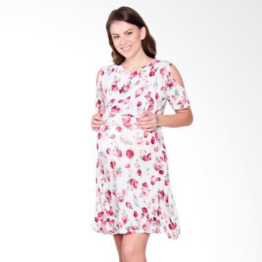 Mamigaya Nia Putih Bunga Merah Baju Hamil