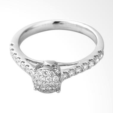 Lino P1705120013 Cincin Berlian Emas Putih [18K VVS]