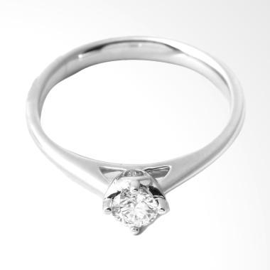 Lino P1708140052 Cincin Berlian Emas Putih 18K VVS