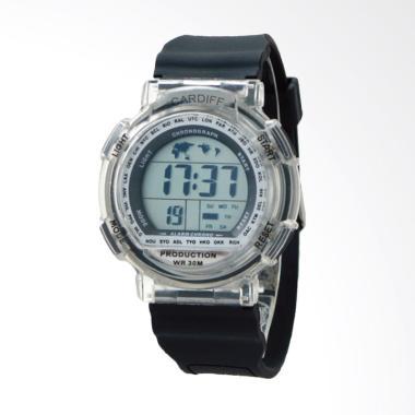 CARDIFF Jam Tangan Pria - Black LCD C 115