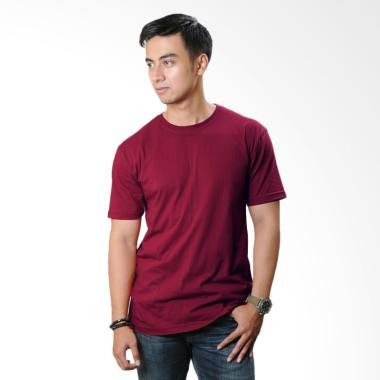 Neils Kaos Polos Bandung Pria - Merah Maroon
