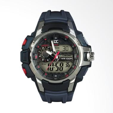 Digitec Jam Tangan Pria - Navy Hitam Ring Silver DA-5002M-8161