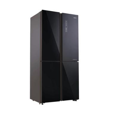 Aqua AQR-IG525 Inverter Kulkas 4 Pintu - Black [Khusus Bandung]