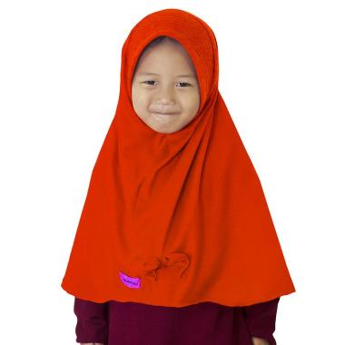 BajuYuli Kerudung Polos Pita Cantik Jilbab Anak - Oranye