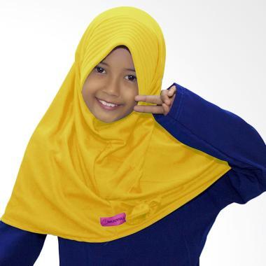 BajuYuli Kerudung Polos Pita Cantik Jilbab Anak - Kuning Kenari