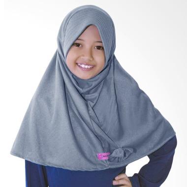 BajuYuli Kerudung Polos Pita Cantik Jilbab Anak - Grey