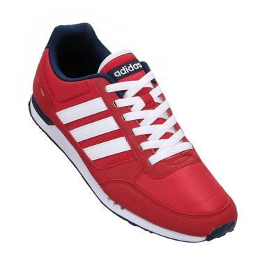 adidas Originals Neo City Racer Sepatu Lari Pria - Red