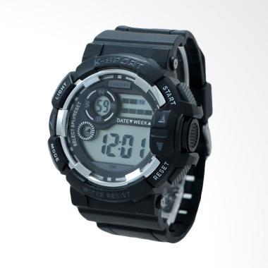 CARDIFF Jam Tangan Pria - Black [LCD C 306]
