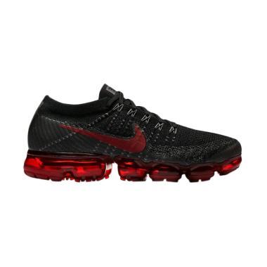 NIKE Men Vapormax Sepatu Sneakers - Black Red [849558-013]