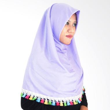 Najwa Hijab Instan Tassel Renda Jilbab Instan - Lavender