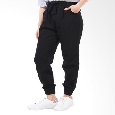 JSK Jeans JSK8210 Celana Panjang Jogger Wanita - Black