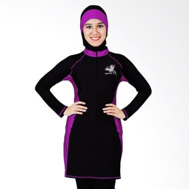 SPORTE Baju Renang Muslimah - Hitam Ungu [SP 03]