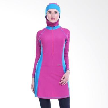 SPORTE Baju Renang Muslimah - Pink Biru [SP 12]