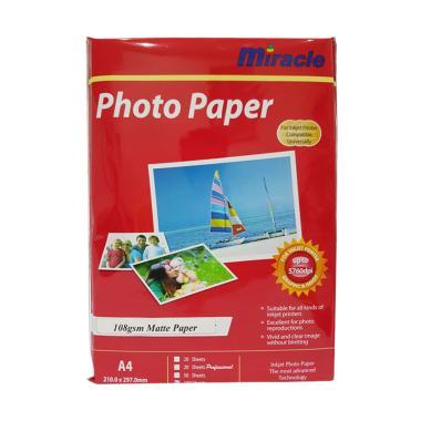 Miracle Matte Inkjet Paper Kertas Foto [108 g]