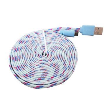 HBS Charger Micro USB Kabel Data Multifungsi - Biru Muda [3 m]