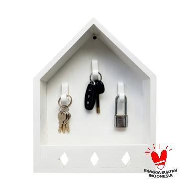 Stiletto In Style Key Holder Rumah Kunci Rak Dinding - Putih