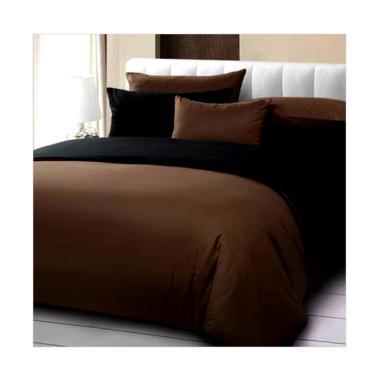 Ellenov Polos Set Sprei dan Bedcover - Black Choco