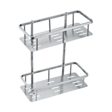 DEcTionS Set Sudut Elegant Aluminium Rak Dinding - Silver