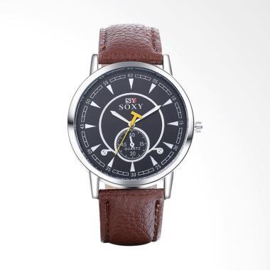 SOXY Top Luxury Fashion Watch Belt  ...  Pria - Brown [SOXY0011D]