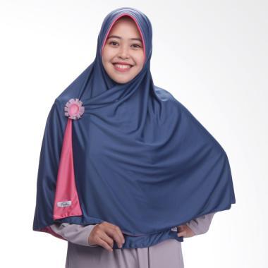 Pricilla Bolak-Balik P23 Aster Jilbab Instant - Navy Pink
