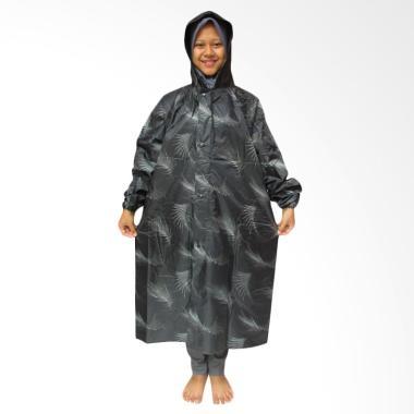 Rainy Collections Motif Ilalang Bahan Parasut Jas Hujan Gamis