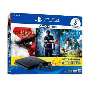 PS4 Slim Hits Bundle V2 Game Consol ... nsi Resmi Sony Indonesia]