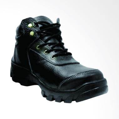 harga Handmade Safety Hiking Touring Kulit Sepatu Boot - Hitam Blibli.com