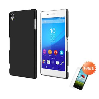 OEM Slim Softcase Casing for Sony Xperia Z3 D6653 5.2 inch - Hitam Solid + Free