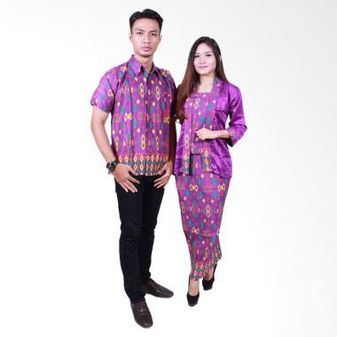 Batik Putri Ayu Solo SRG 501 Sarimbit Ayuna Baju Batik Couple - Ungu