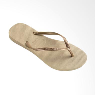 Havaianas Slim 2719 Flip Flop Sandal Wanita - Sand Grey Light Golden