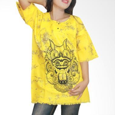 Batik Alhadi KPT001-30 Kaos Bali Batik Atasan Wanita - Kuning